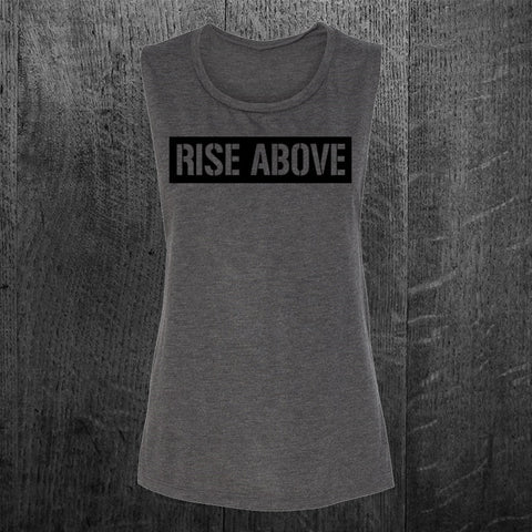 """RISE ABOVE"" Muscle Tee"