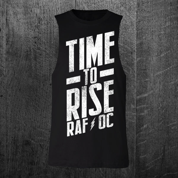 """TIME TO RISE"" Custom Cut Muscle Tee"