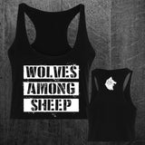 """WOLF PACK"" Custom Cut Crop Racerback"