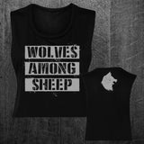 """WOLF PACK"" Custom Cut Crop Muscle Tee"