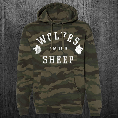 """WOLVES AMONG SHEEP"" Pullover Hoodie"