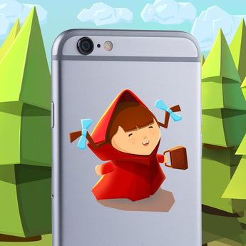 Little Red Riding Hood sticker