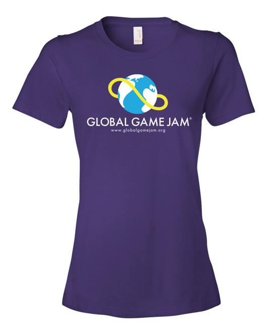 OFFICIAL GLOBAL GAME JAM SHIRT - WOMEN'S