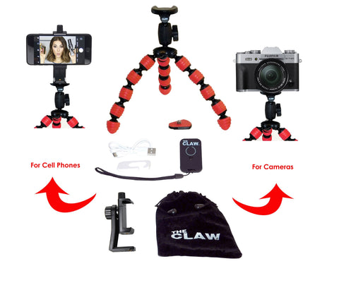 The CLAW® Large travel tripod - Red