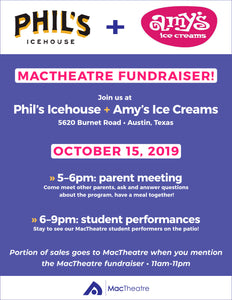 Join us in supporting MacTheatre on October 15th!