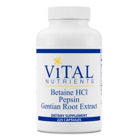 Betaine HCl Pepsin Gentian Root Extract 225ct