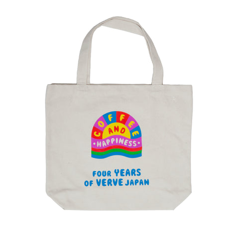 ORGANIC CANVAS TOTE BAG - HAPPINESS