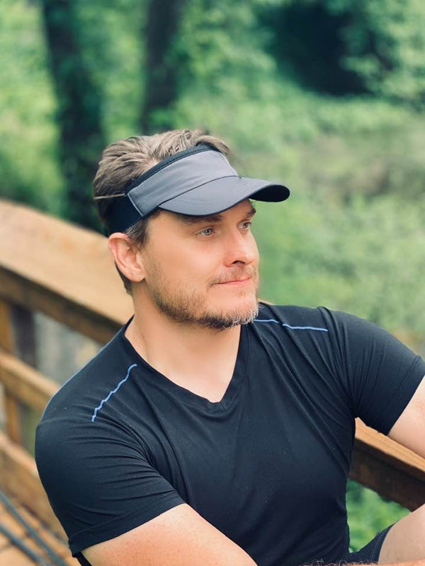 RAVEbandz The MANAGER- 360° Comfort Fit Visor- (Charcoal Grey with Black Trim)