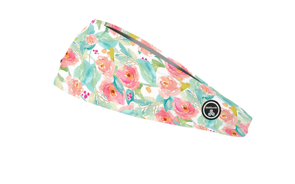 RAVEbandz The Pro - Wide Stretch Headband (Bada Bloom)