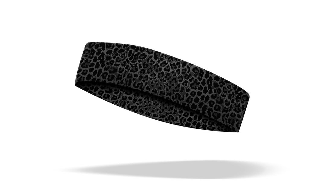 RAVEbandz CHAMP No Slip Headband - Black Leopard