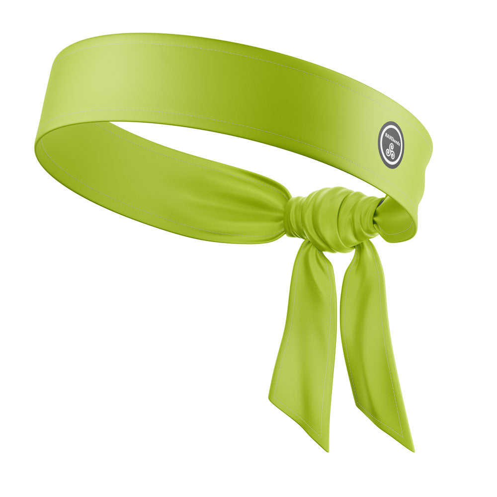 RAVEbandz The All Star Tie Back Headbands (Solid Chartreuse)
