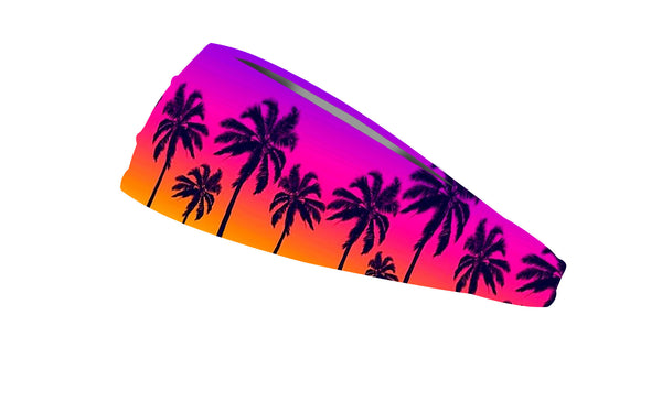 RAVEbandz The Pro - Wide Stretch Headband (Sunset Strip)