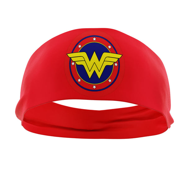 RAVEbandz The Pro - Wide Stretch Headband (Wonder Woman - Red)