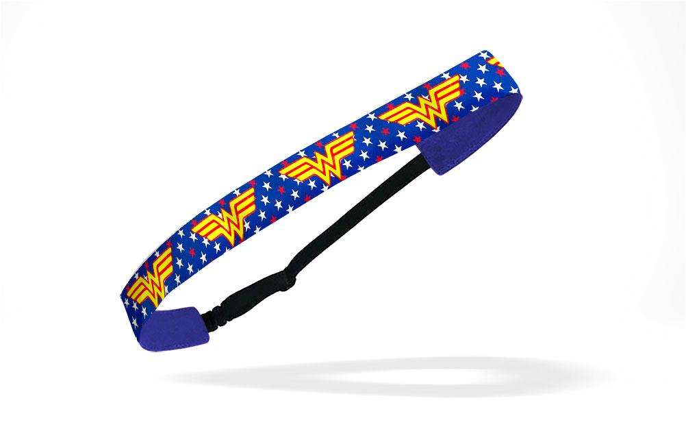 RAVEbandz Adjustable Headbands Superhero - (Woman Wonder)