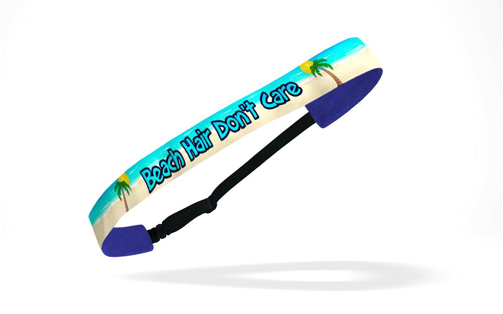 RAVEbandz Adjustable Headbands Slogans - (Beach Hair Don't Care)
