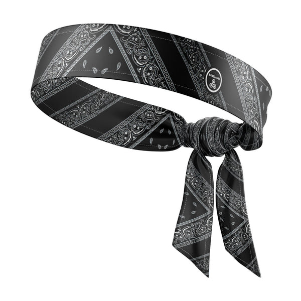 RAVEbandz The All Star Tie Back Headbands (Black Bandana)