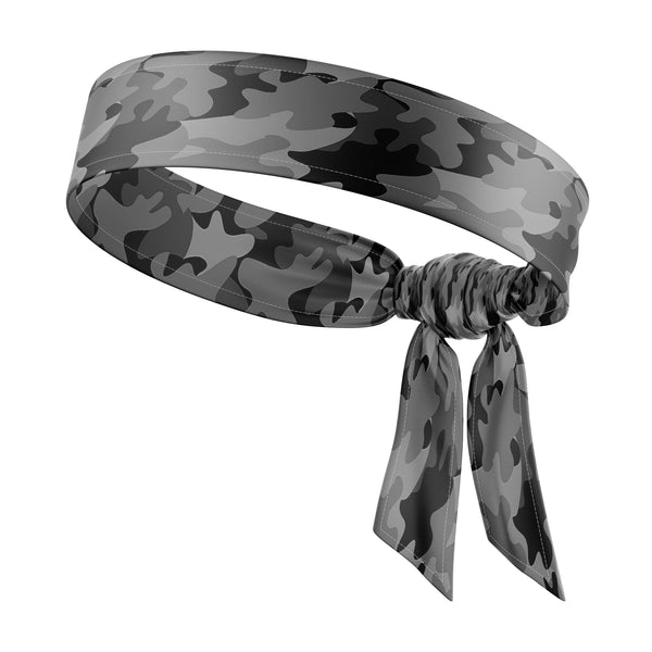 RAVEbandz The All Star Tie Back Headbands (Defender- Black)