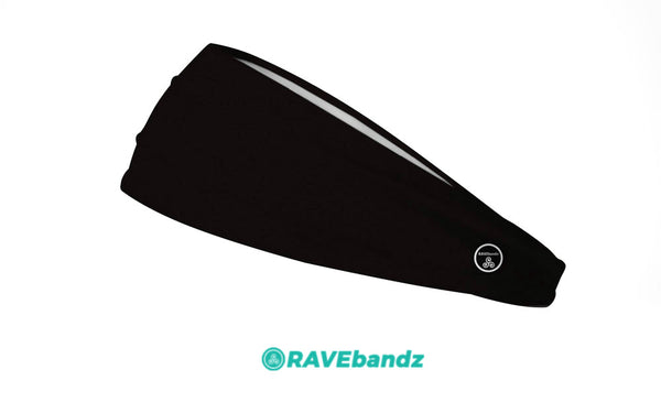 RAVEbandz The Pro - Wide Stretch Headband (Solid Black)