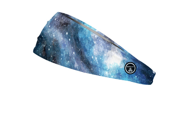 RAVEbandz The Pro - Wide Stretch Headband (Blue Galaxy)