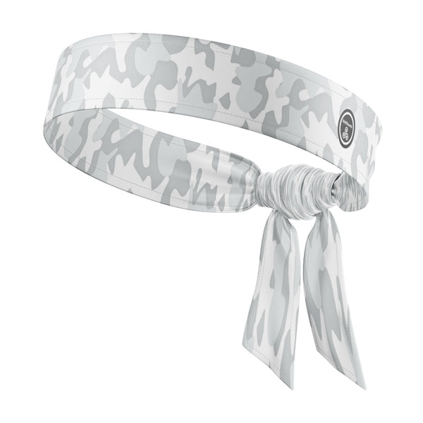 RAVEbandz The All Star Tie Back Headbands (Defender - White)