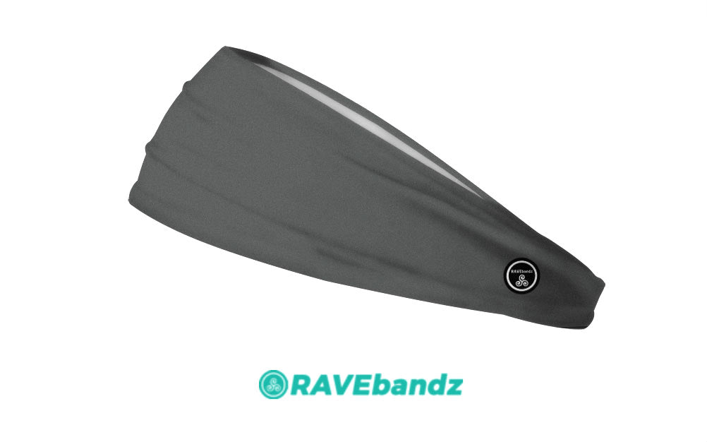 RAVEbandz The Pro - Wide Stretch Headband (Solid Charcoal)