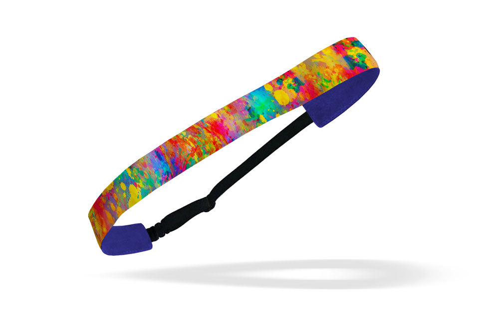 RAVEbandz Adjustable Headbands - (Clrfl Paint Splatter)