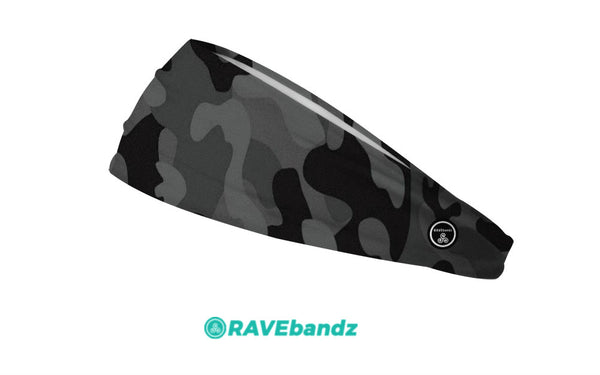 RAVEbandz The Pro - Wide Stretch Headband (Defender - Black)