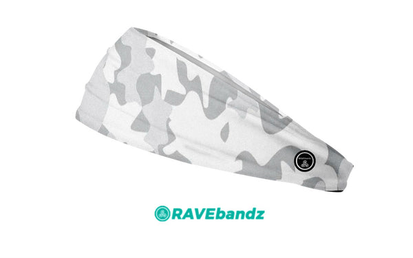 RAVEbandz The Pro - Wide Stretch Headband (Defender - White)