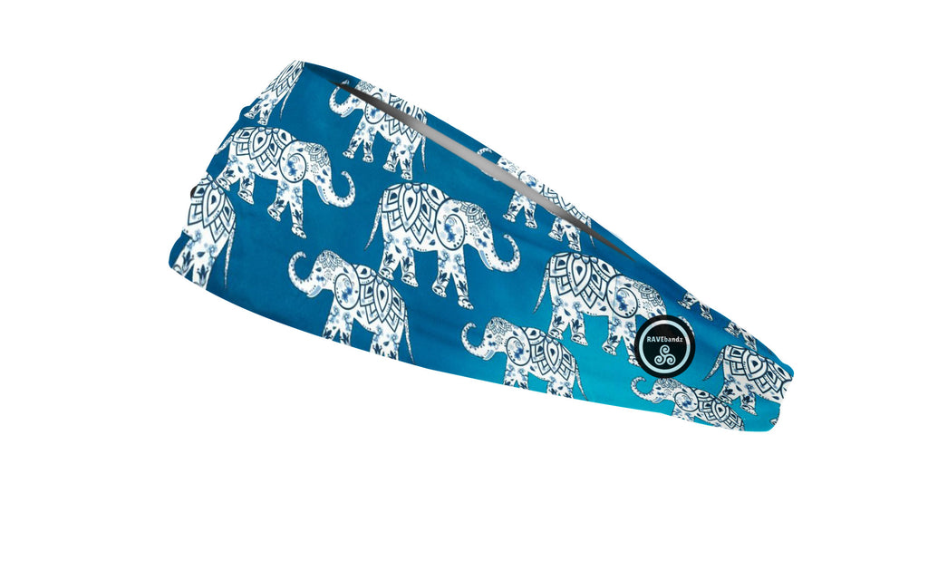 RAVEbandz The Pro - Wide Stretch Headband (Elephants)