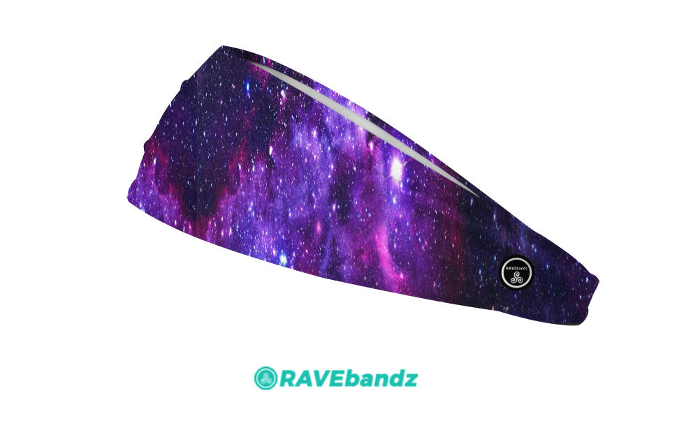 RAVEbandz The Pro - Wide Stretch Headband (Galaxy)