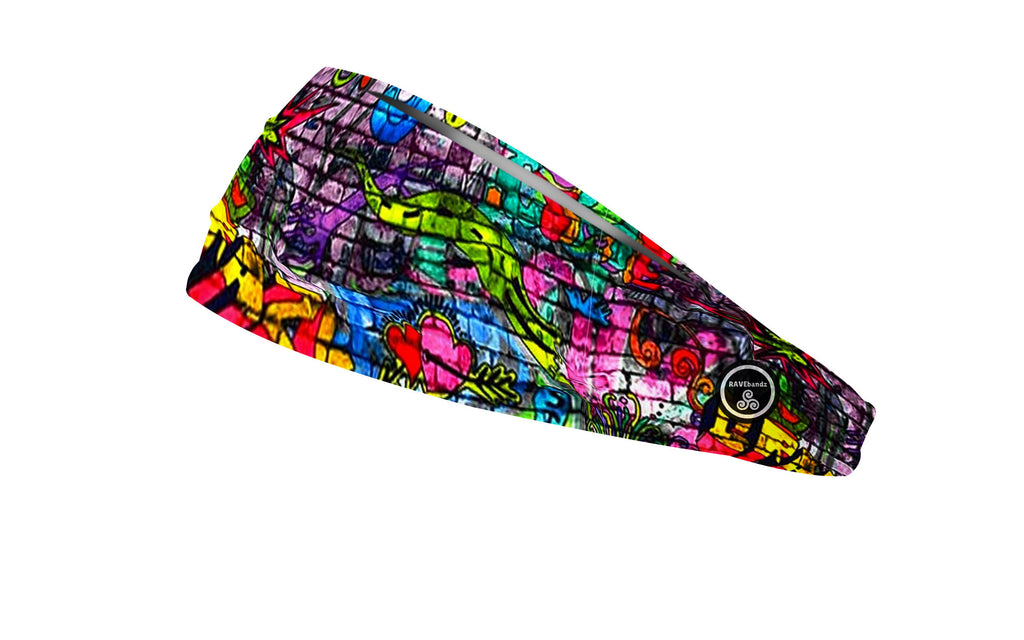 RAVEbandz The Pro - Wide Stretch Headband (Graffiti)