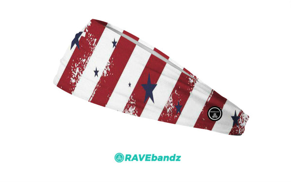CLEARANCE  RAVEbandz The Pro - Wide Stretch Headband (Americana)