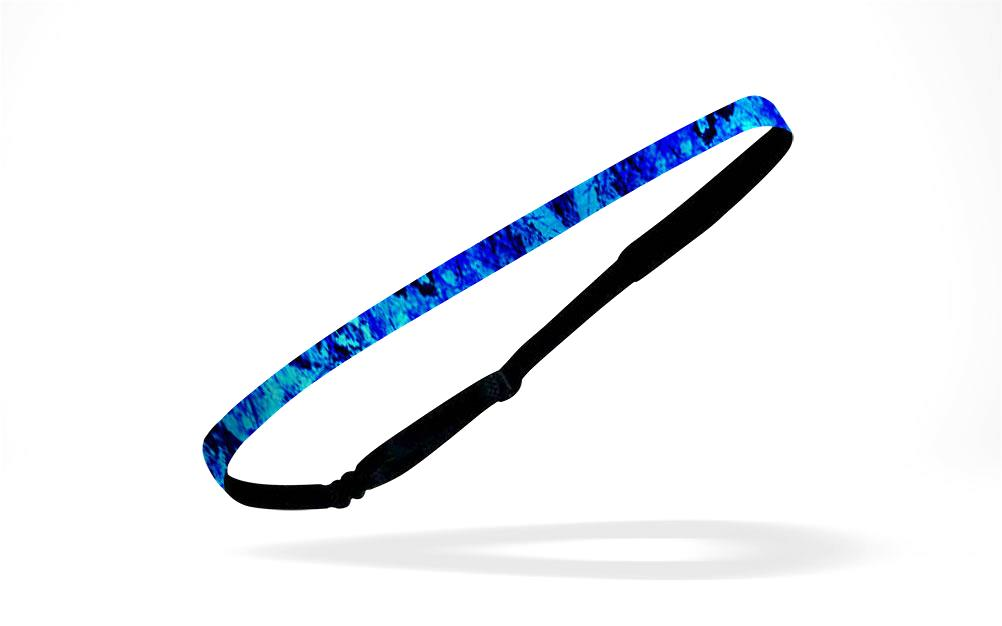 "RAVEbandz Adjustable Headbands 1/2"" Patterns - (Colbalt)"