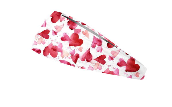 RAVEbandz The Pro - Wide Stretch Headband (Hearts A Flutter)