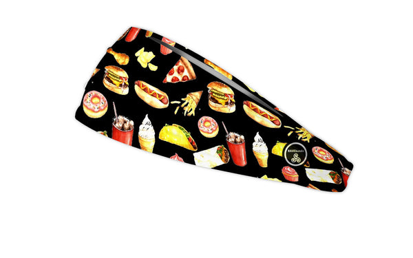RAVEbandz The Pro - Wide Stretch Headband (Junk Food)