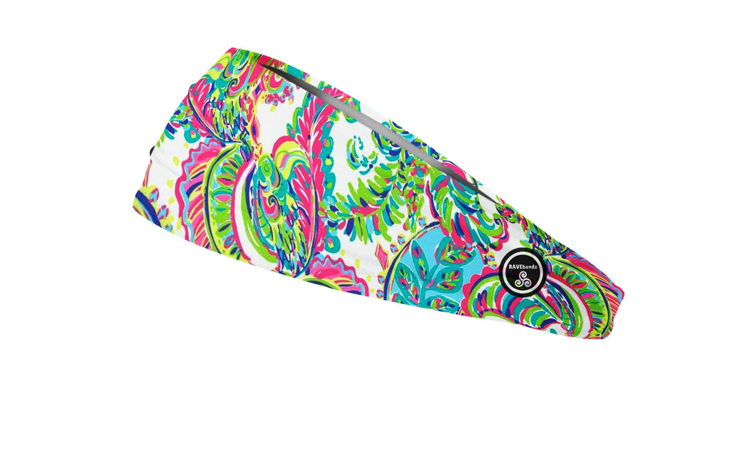 RAVEbandz The Pro - Wide Stretch Headband (Lilly P)