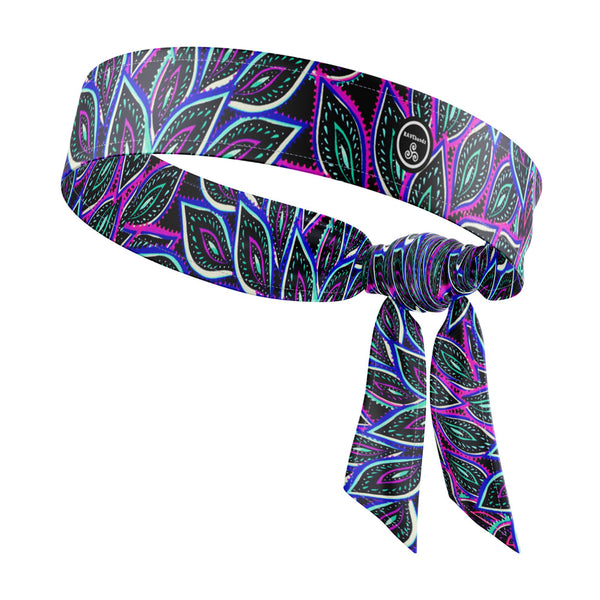 RAVEbandz The All StarT ie Back Headbands (Peacock Feathers)