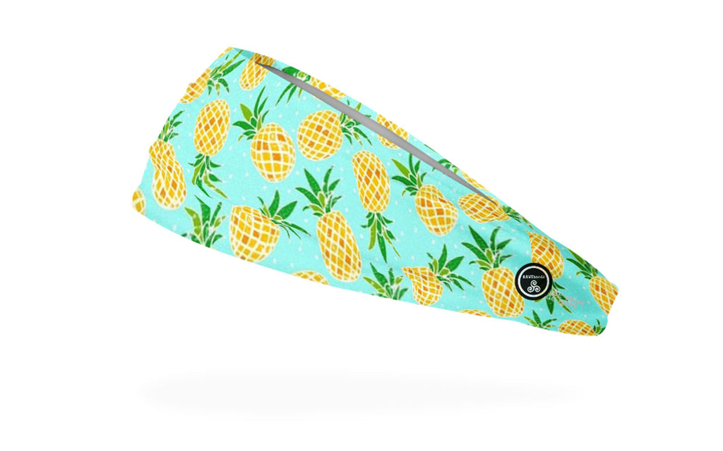 RAVEbandz The Pro - Wide Stretch Headband (Pineapple)
