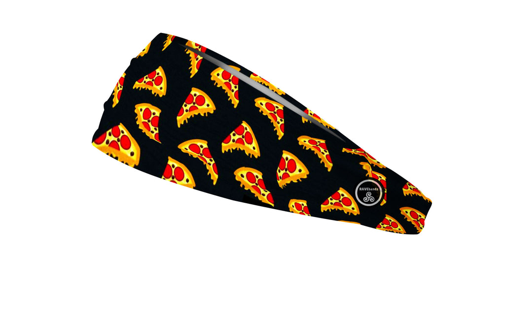 RAVEbandz The Pro - Wide Stretch Headband (Pizza)