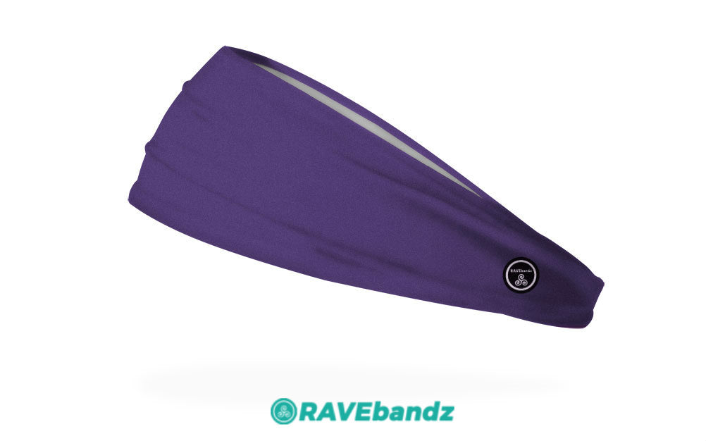 RAVEbandz The Pro - Wide Stretch Headband (Solid Purple)