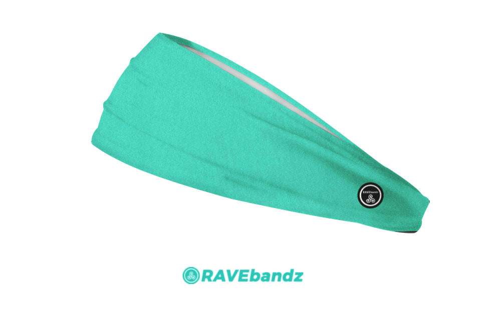 RAVEbandz The Pro - Wide Stretch Headband (Island Green)