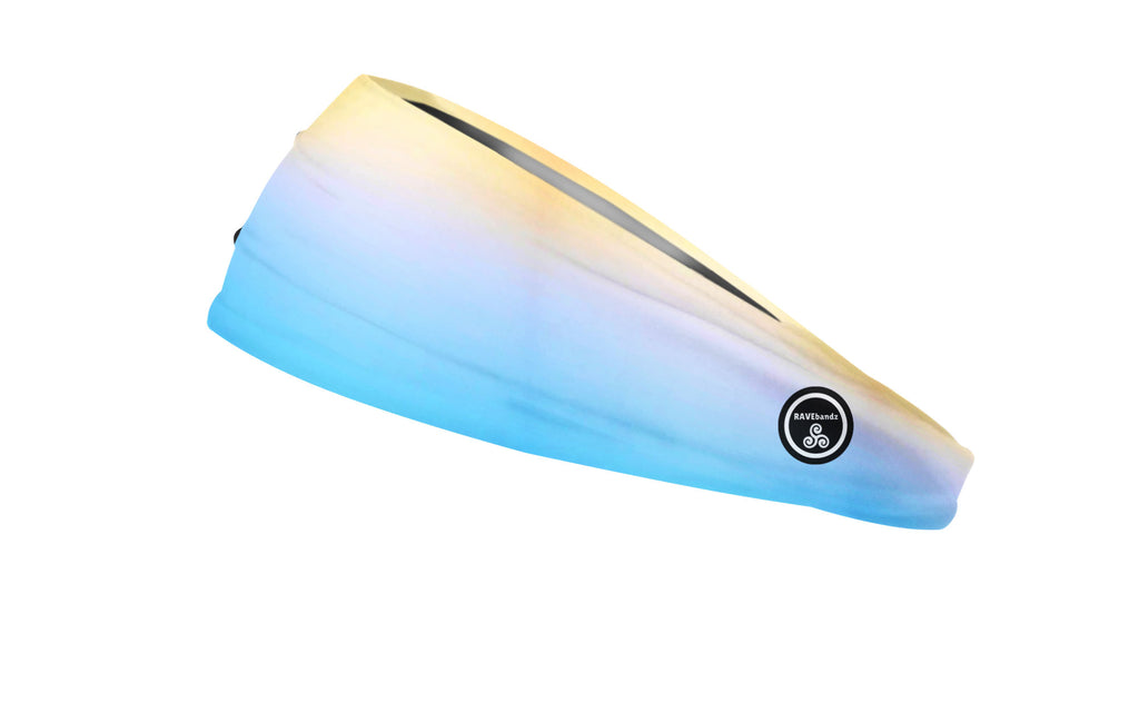 RAVEbandz The Pro - Wide Stretch Headband (Sand and Sea)