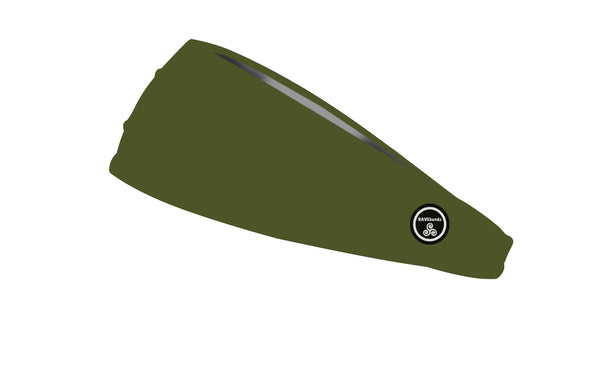 RAVEbandz The Pro - Wide Stretch Headband (Solid Army Green)