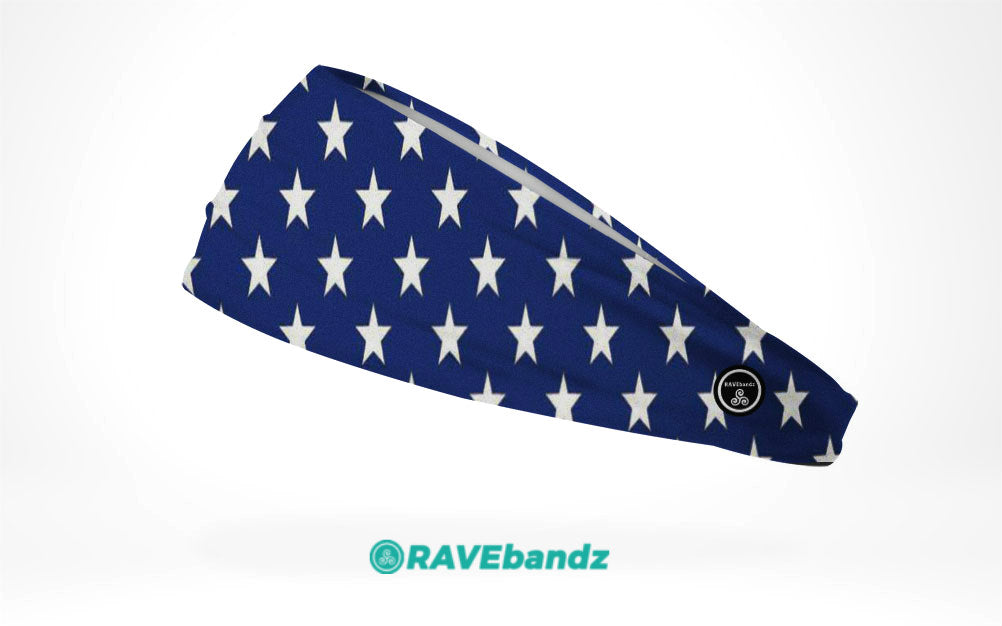CLEARANCE - RAVEbandz The Pro - Wide Stretch Headband (Stars)