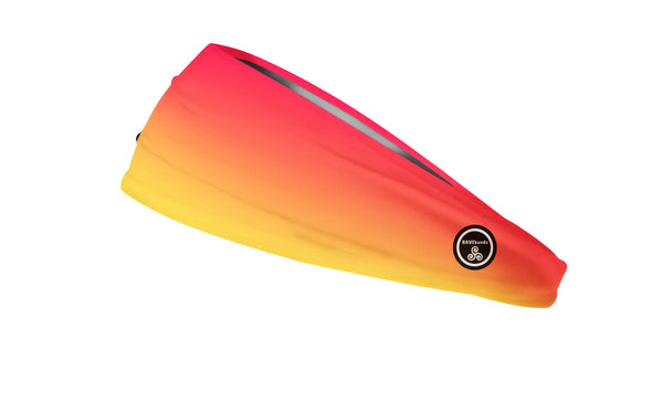 RAVEbandz The Pro - Wide Stretch Headband (Sunrise)