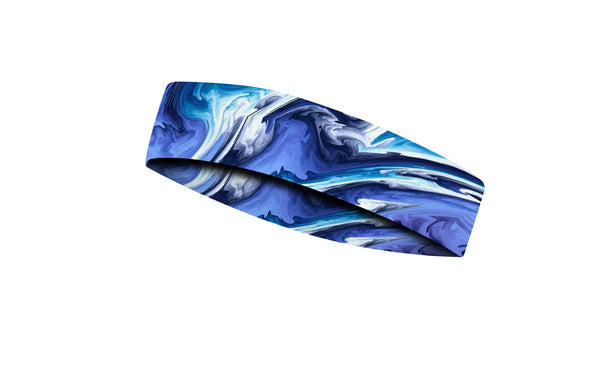 RAVEbandz CHAMP  No Slip Headband -  Tidal Wave