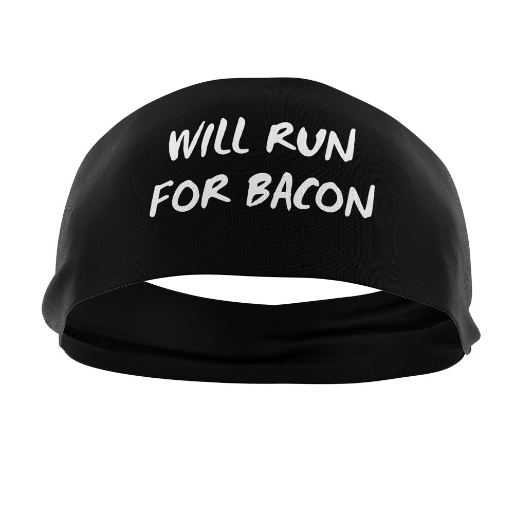 RAVEbandz The Pro - Slogans Headband (Will Run For Bacon)