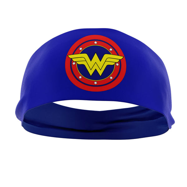 RAVEbandz The Pro - Wide Stretch Headband (Wonder Woman - Blue)