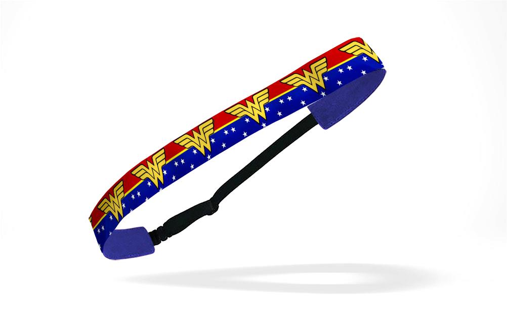 RAVEbandz Adjustable Headbands Superhero (Wonder Woman Red Blue)