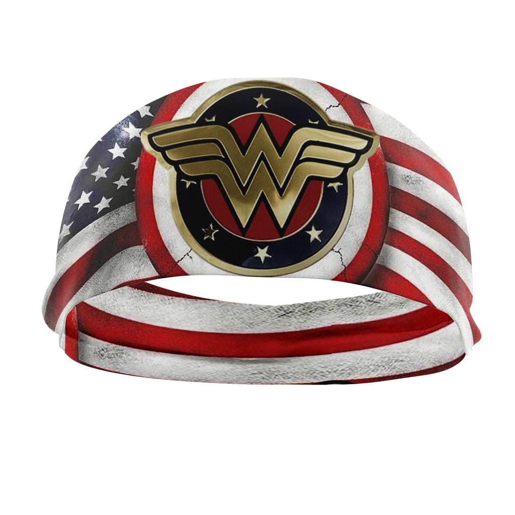 RAVEbandz The Pro - Wide Stretch Headband (Vintage Wonder Woman)